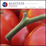 Screen shot of the Mayfair Foods Ltd website.