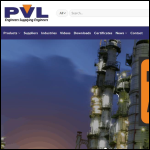 Screen shot of the Pressure Vacuum Level Ltd website.