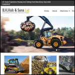 Screen shot of the B.H. Holt & Sons Ltd website.