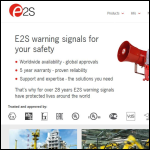 Screen shot of the E2S European Safety Systems Ltd website.
