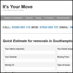 Screen shot of the It's Your Move Ltd website.