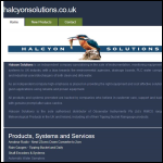 Screen shot of the Halcyon Solutions website.