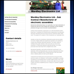 Screen shot of the Wardley Electronics Ltd website.