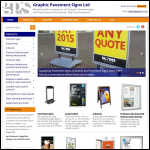Screen shot of the Graphic Pavement Signs Ltd website.