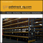 Screen shot of the Pallet Racking.com website.