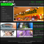 Screen shot of the Retail Plastix & Graphix website.