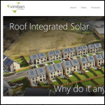 Screen shot of the Viridian Solar Ltd website.