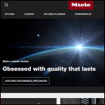 Screen shot of the Miele Co. Ltd website.