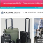 Screen shot of the Gale Force Cases Ltd website.