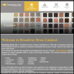 Screen shot of the Broadway Brass Ltd website.