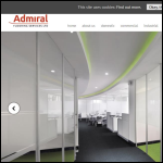 Screen shot of the Admiral Flooring Services Ltd website.