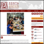 Screen shot of the Zonta Ltd website.