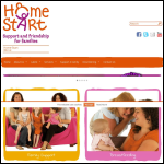 Screen shot of the Home-start Wirral website.