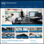 Screen shot of the Warley Design Solutions website.