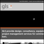 Screen shot of the GLS Foodservice Designs Ltd website.