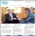 Screen shot of the Pestex Services website.