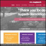 Screen shot of the Maylarch Environmental Ltd website.