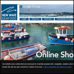 Screen shot of the New Wave Seafoods website.
