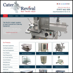 Screen shot of the Cater Revival website.