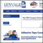 Screen shot of the Lynvale Technical Adhesive Tapes website.