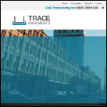 Screen shot of the Trace Basement Systems website.