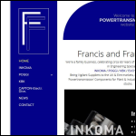 Screen shot of the Francis & Francis Ltd website.
