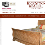 Screen shot of the Lock Stock & Barrel (Furniture) Ltd website.