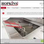 Screen shot of the Hopkins Catering Equipment Ltd website.