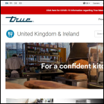 Screen shot of the True Manufacturing UK website.