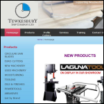 Screen shot of the Tewkesbury Saw Co Ltd website.
