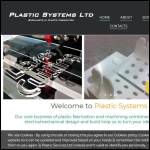 Screen shot of the Plastic Systems Ltd website.