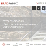 Screen shot of the Bradfabs Ltd website.