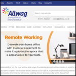 Screen shot of the Allwag Promotions Ltd website.
