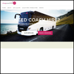 Screen shot of the Cheapcoachhire.com website.