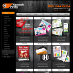 Screen shot of the Hannah Print website.