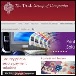 Screen shot of the TALL Group of Companies website.