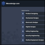Screen shot of the Meso Design website.