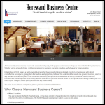 Screen shot of the Hereward Business Centre website.