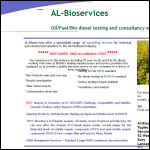 Screen shot of the AL-BIOSERVICES website.