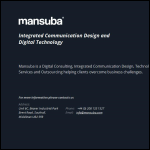Screen shot of the Mansuba website.