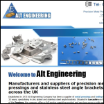 Screen shot of the ALT Engineering Co Ltd website.