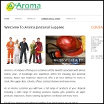 Screen shot of the Aroma Janitorial Supplies website.