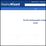 Screen shot of the Display Wizard Ltd website.