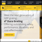 Screen shot of the Dura Composites Ltd website.