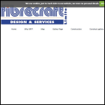 Screen shot of the Fibrecraft Design & Services Ltd website.