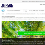 Screen shot of the JB Packaging website.