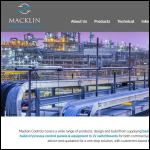 Screen shot of the Macklin Controls UK Ltd website.