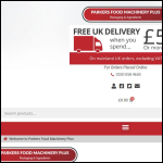 Screen shot of the Parker's Food Machinery Plus Ltd website.