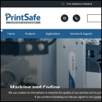 Screen shot of the PrintSafe (KBA Metronic UK) Ltd website.