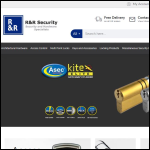 Screen shot of the R & R Security Services website.